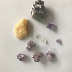 Crystals! Calcite and Small Amethyst Pieces